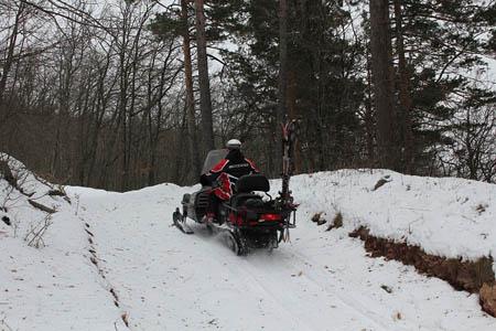 прицеп для снегохода